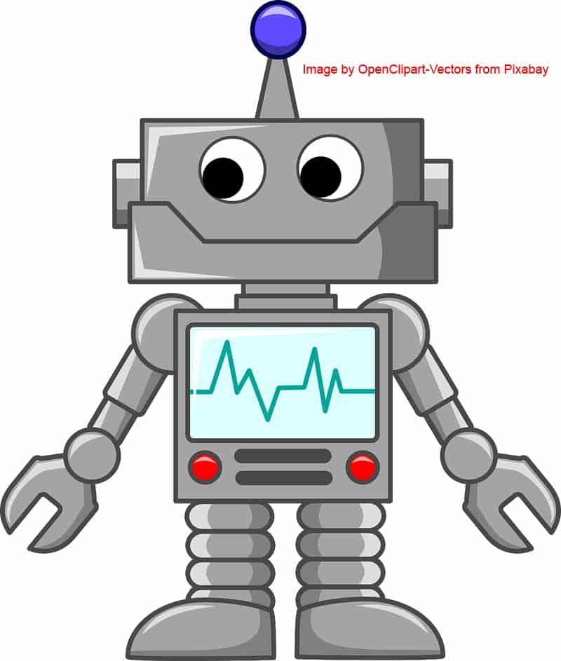 Image of a cartoon character robot