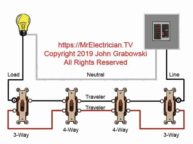 fourway switch wiring diagrams