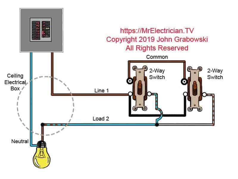 3 Way Wiring Diagram For Lights from mrelectrician.tv