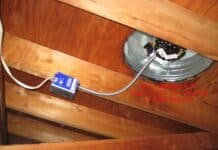 A new attic fan with thermostat wired remotely